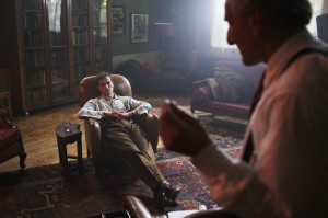 Ed Stoppard (Left) stars as Alan Turing.  His therapist  is played by Henry Goodman. Photo by Marc Sethi.